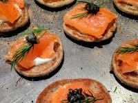 salmon-blini