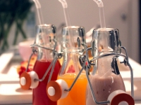 Soft drinks at breakfast event