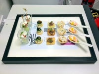 Top Shop canapes on serving frame